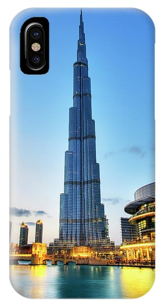 Burj Khalifa Sunset IPhone Case
