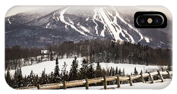 Burke Mountain And Fence IPhone Case