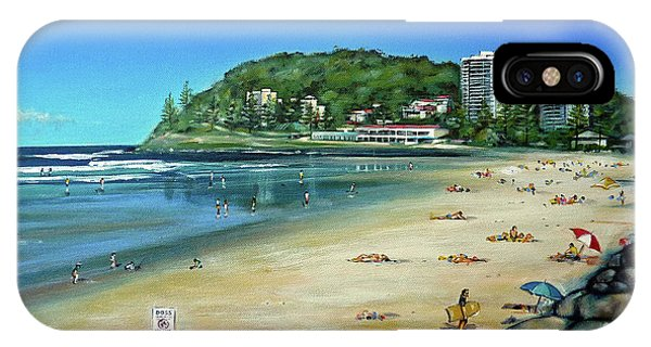 Burleigh Beach 100910 IPhone Case
