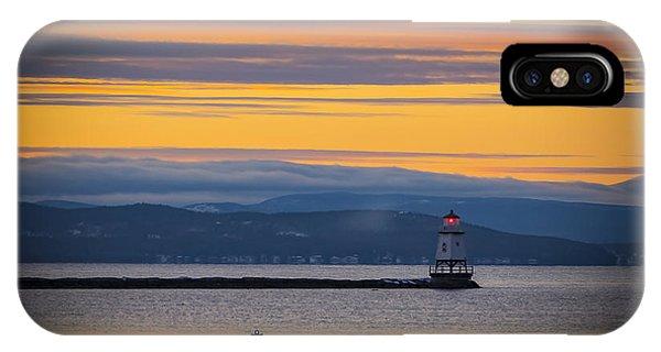 Burlington Lighthouse Sunset IPhone Case