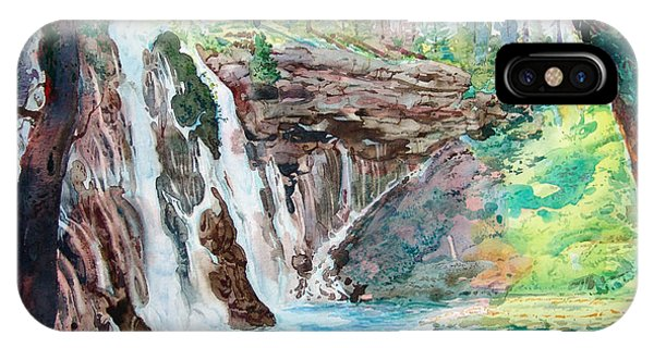Burney Falls Phone Case by John Norman Stewart