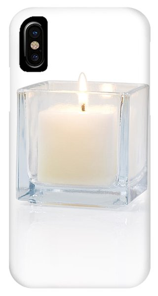 Burning Candle Side View 20 Degree IPhone Case