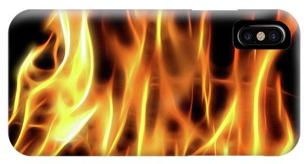 Burning Flames Fractal IPhone Case
