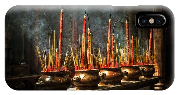 Burning Incense IPhone Case