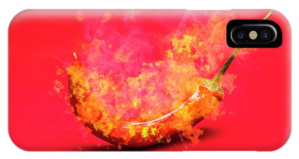 Bell iPhone Case - Burning Red Hot Chili Pepper. Mexican Food by Jorgo Photography - Wall Art Gallery