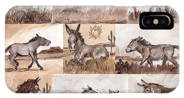 Burros Of The South West Sampler IPhone Case