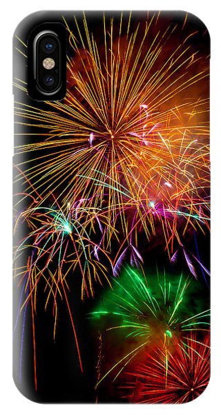 Fireworks iPhone Case - Burst Of Bright Colors by Garry Gay