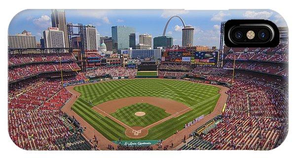 Busch Stadium St. Louis Cardinals Ball Park Village #3b IPhone Case