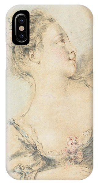 French Painter iPhone Case - Bust Of A Young Girl  by Francois Boucher