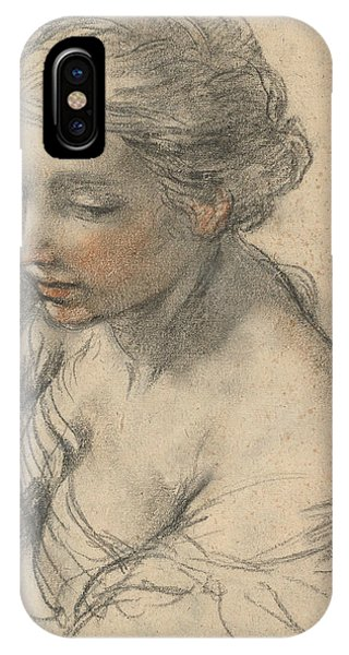 Baroque iPhone Case - Bust Of A Young Woman Turned To The Left by Pietro da Cortona