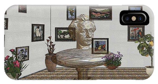 Bust Of The Spirit Of Einstein 1 IPhone Case
