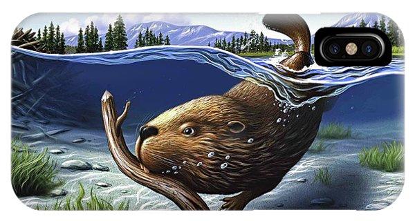 Beaver iPhone Case - Busy Beaver by Jerry LoFaro