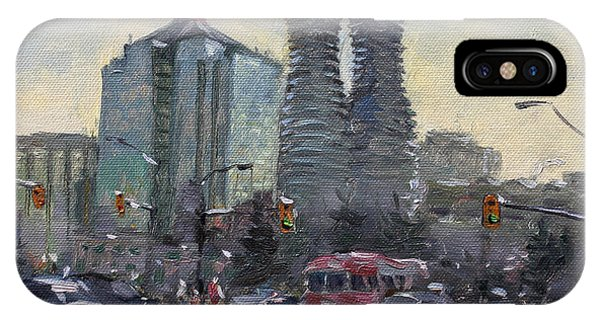 Downtown iPhone Case - Busy Morning In Downtown Mississauga by Ylli Haruni