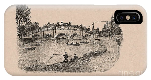 Busy Richmond Bridge And Fishermen IPhone Case
