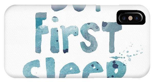 Gallery Wall iPhone Case - But First Sleep by Linda Woods