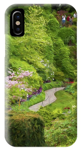 Shrub iPhone Case - Butchart Garden Path by Patricia Stalter