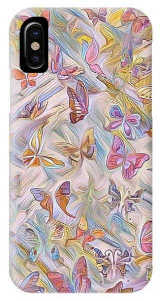 Butterflies Abstract  IPhone Case