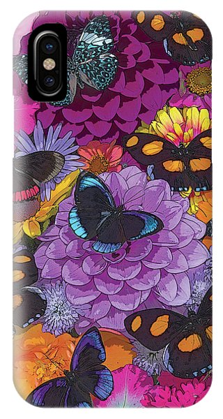 Digital iPhone Case - Butterflies And Flowers 2 by JQ Licensing