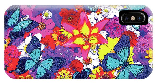 Fairy iPhone Case - Butterflies And Flowers by JQ Licensing