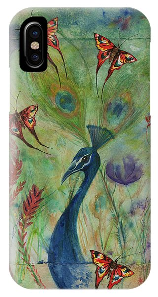 Butterflies And Peacock IPhone Case