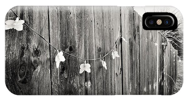 Butterflies On A Rustic Fence IPhone Case