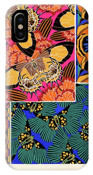 Chrysalis iPhone Case - Butterflies, Plate-18 by Painter of the 19th century