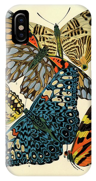 Chrysalis iPhone Case - Butterflies, Plate-3  by Painter of the 19th century