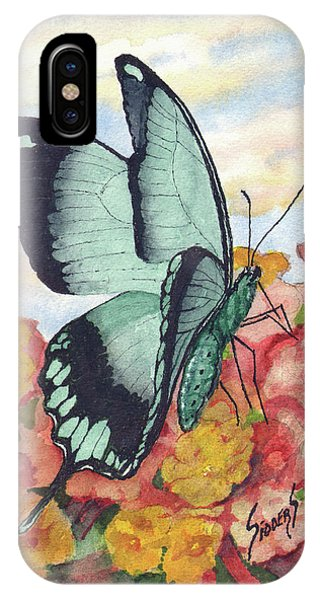 IPhone Case featuring the painting Butterfly 180727 by Sam Sidders