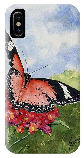 IPhone Case featuring the painting Butterfly - 180709 by Sam Sidders