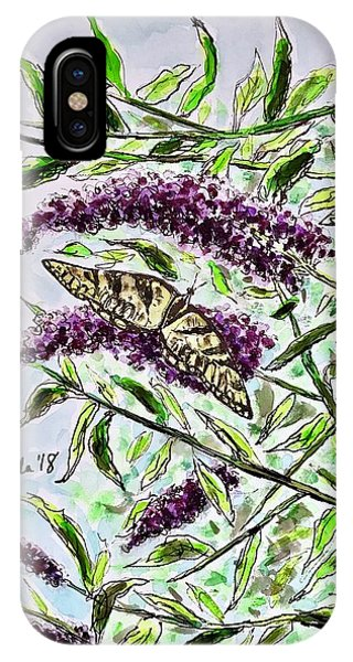 Butterfly Bush IPhone Case