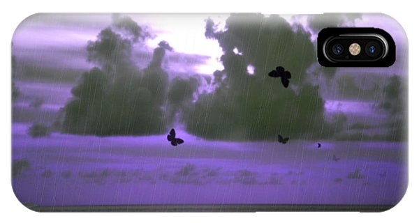 Butterfly Dreams And A Purple Sky IPhone Case