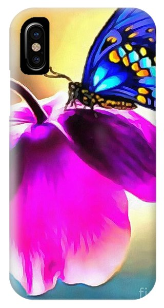 Butterfly Floral IPhone Case