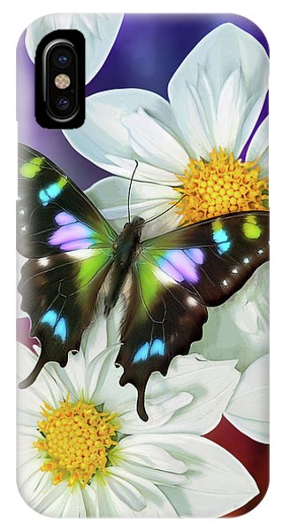 Song iPhone Case - Butterfly Flowers by JQ Licensing