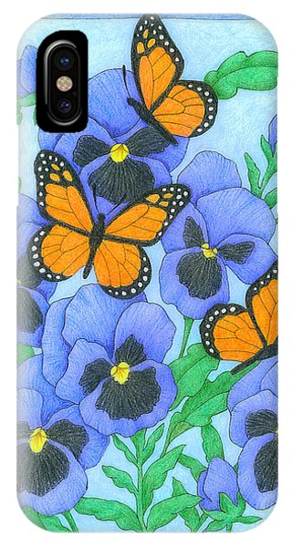 Butterfly Idyll-pansies IPhone Case
