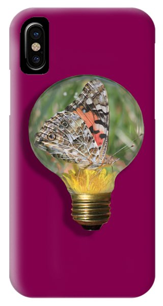 Butterfly In A Bulb II IPhone Case