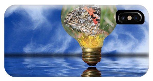 Butterfly In Lightbulb - Landscape IPhone Case