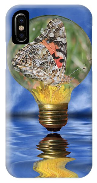 Butterfly In Lightbulb - Landscape IPhone Case