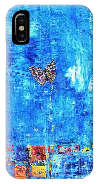 Butterfly In The Wind IPhone Case