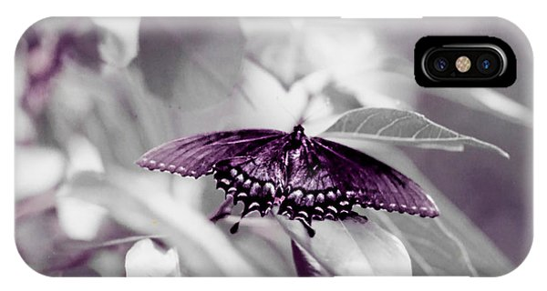 iPhone Case - Butterfly Landing by Cynthia Leaphart