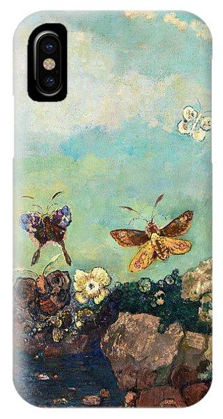 Chrysalis iPhone Case - Butterfly by Odilon Redon
