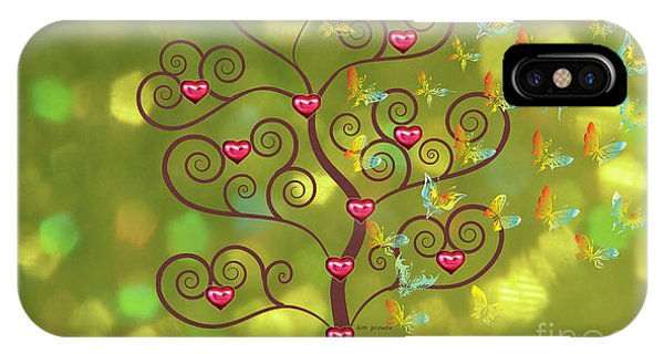 Butterfly Of Heart Tree IPhone Case