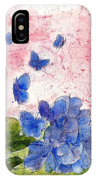 Butterflies Or Hydrangea Flower, You Decide IPhone Case