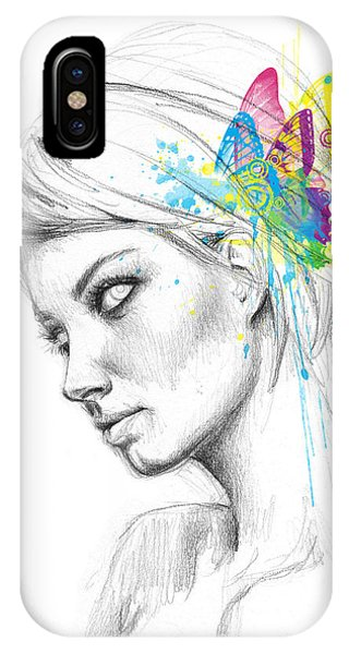 Fairy iPhone Case - Butterfly Queen by Olga Shvartsur