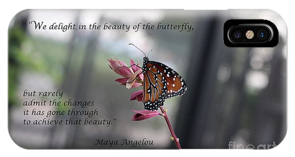 Butterfly Quote Art Print IPhone Case