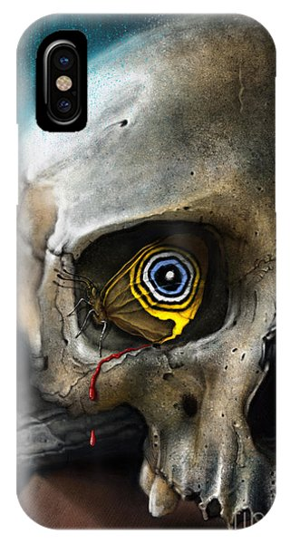 Butterfly Skull IPhone Case