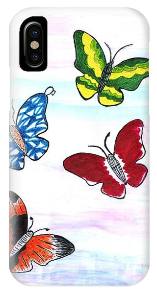 Butterfly Tag IPhone Case
