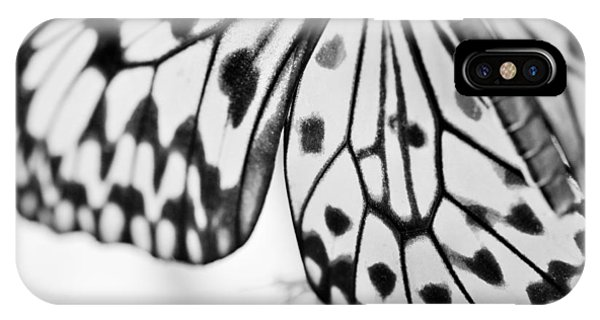 Butterfly Wings 3 - Black And White IPhone Case