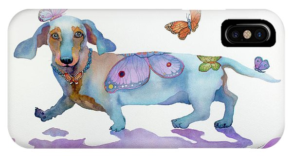Butterfly Doxie Doo IPhone Case