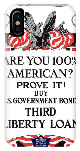 Wwi iPhone Case - Buy U.s. Government Bonds by War Is Hell Store