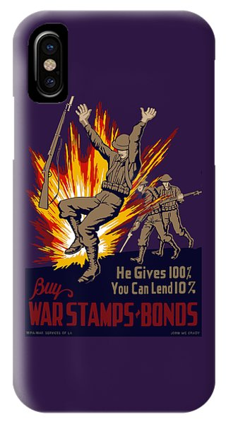 Explosion iPhone X Case - Buy War Stamps And Bonds by War Is Hell Store
